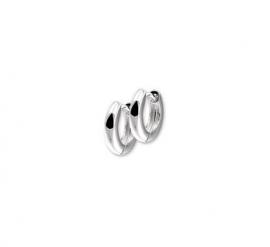 Zilveren klapcreolen bolle buis 3 mm