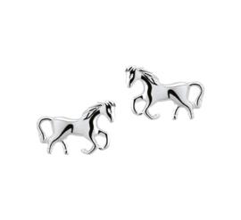 Zilveren oorbellen paard stekers