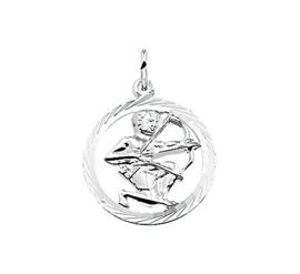 Zilveren bedel met boogschutter sterrenbeeld