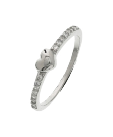 Zilveren ring  zirkonia maat 15,25 - 19