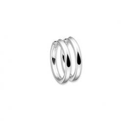 Zilveren klapoorringen ronde buis 2,5 mm x 15 - 30  mm