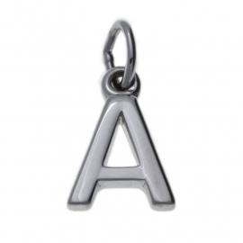 Zilveren letter  A - Z bedels