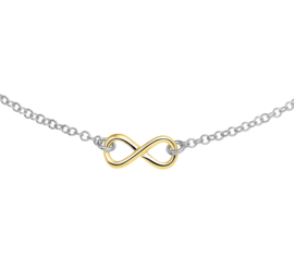 Zilver collier infinity of peace 40 - 44 cm | 2,1 mm