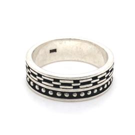 Zilveren ring geoxideerd mt 21 x 7,5 mm