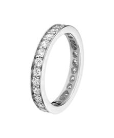 Zilveren ring  zirkonia maat 15 - 21