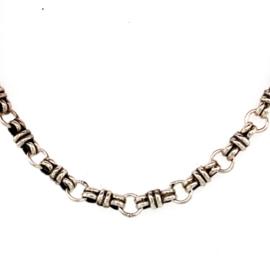Zilveren ketting geoxideerd 45 cm x 5 mm