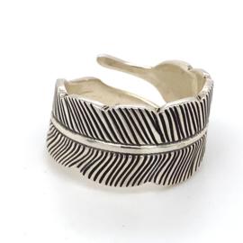 Zilveren ring veer mt 16 - 19,75x 13,5 mm