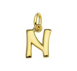 Gouden letter N hanger