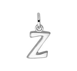 Zilveren bedel letter Z