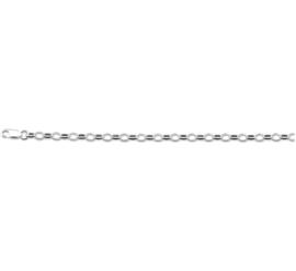Zilveren kinder  armband jasseron 13 cm 3,7 mm