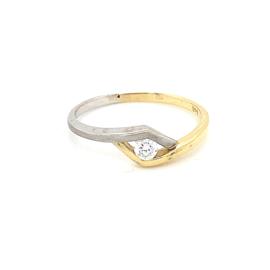 Gouden ring zirkonia mt 17,25/ 18,25