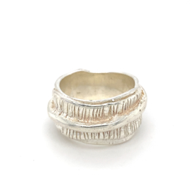 Zilveren ring Italiaans design mt 18,5