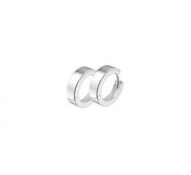 Zilveren klapoorringen vlakke buis 3 mm x 10,5 - 17,5 mm