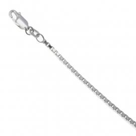 Zilveren collier/ketting venetiaans 50 cm