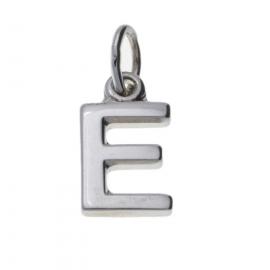 Zilver hanger letter E