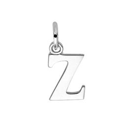 Zilver hanger letter Z gerhodineerd