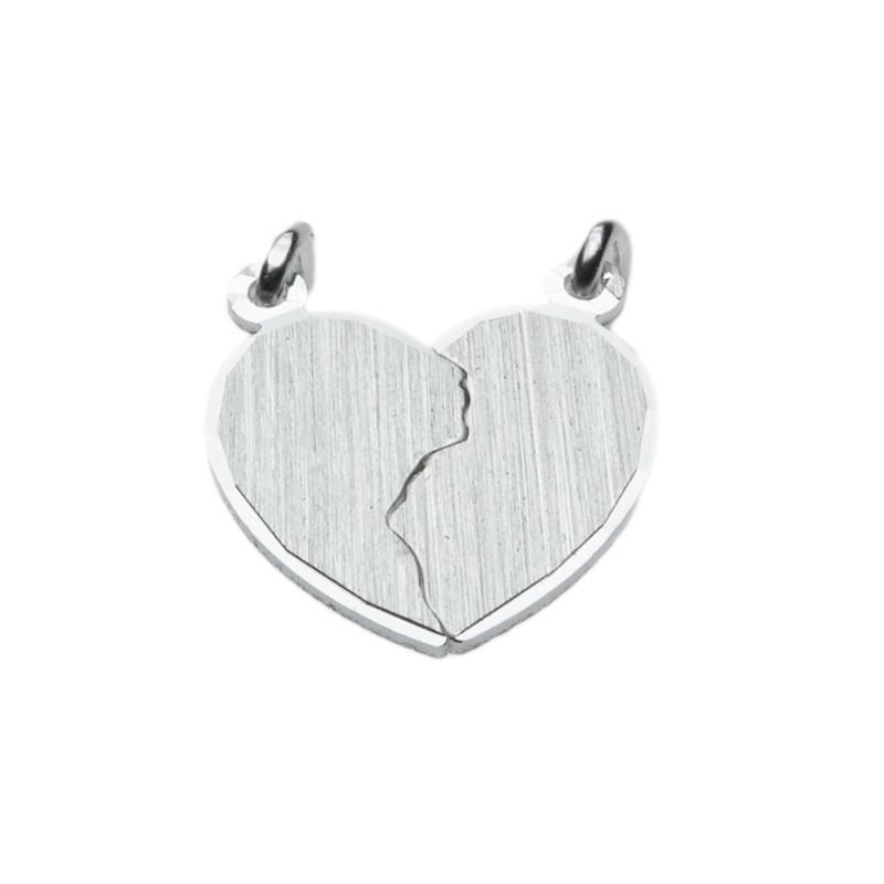 Zilver breekhartje mat 16 x 17 mm
