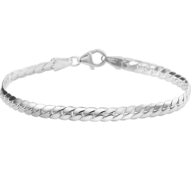 Zilveren armband gourmet bol 18  cm