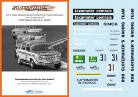 1/24 Simca 1000 Rob Slotemaker's Racing Team #31 Decals