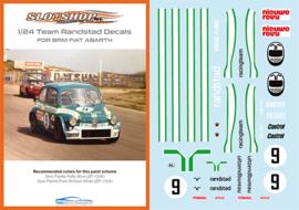 1/24 Fiat Abarth 1000 TCR Team Randstad #9 Decals
