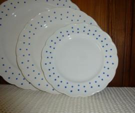 Boch dessertbord blauwe stippen