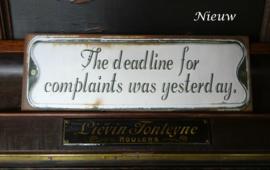 "Bordje ""The deadline…"""