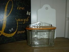 Antiek glazen zoutvat
