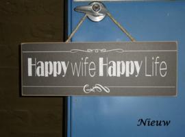 """Bordje """"Happy wife"""""""