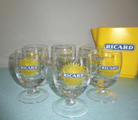 """Ricard glazen """"zonnestraaltjes"""""""