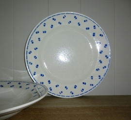 Bord blauwe bollen