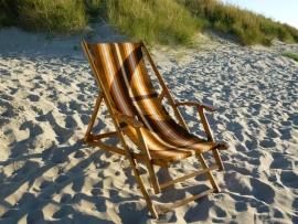 Antieke strandstoel