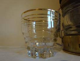 Groot glas met gouden randje