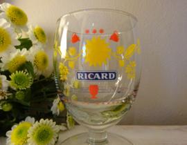 Gebloemd Ricard glas