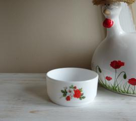 Arcopal schaaltje rode rozen