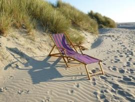 Strandstoel met voetstukje