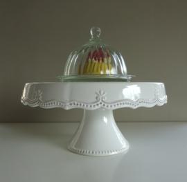 Glazen taartstolp