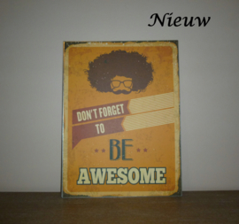 "Metalen prent ""Awesome"""