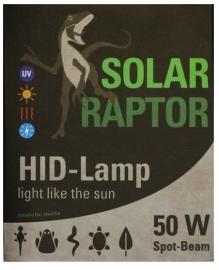 Solar Raptor UVB HID 50W Spot Beam