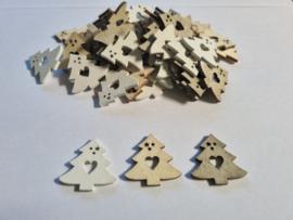 Houten kerstbomen - 60 stuks