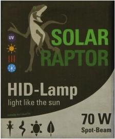 Solar Raptor UVB HID 70W Spot Beam
