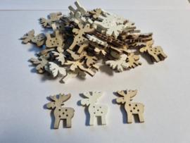 Houten rendieren - 60 stuks