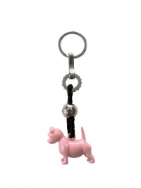 Happy House Sleutelhanger Terrier Roze