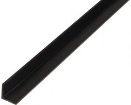 Hoekprofiel L 2x2 cm Zwart 1 Meter