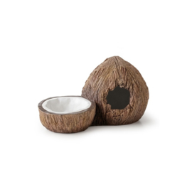 Exo Terra Tiki Coconut Hideout With Water Dish