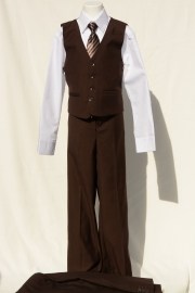 5-delig kostuum bruin