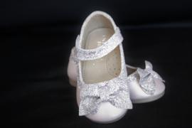 Strik ballerina zilver