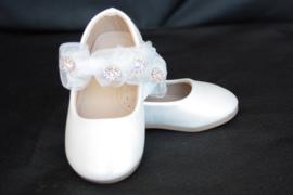 Bloemen ballerina ivoor wit