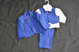 5-delig babykostuum koningsblauw