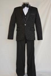 5-delig smoking kostuum zwart