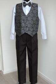 4 delig kostuum grijs